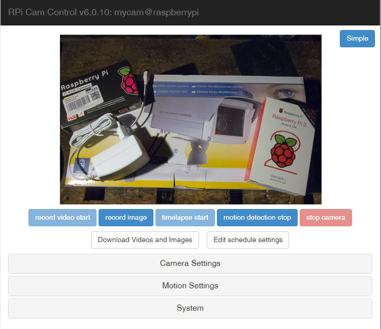 Raspberry PI Kamera Projekt