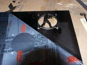 PC-Casemod: Platte mit Spiegelfolie