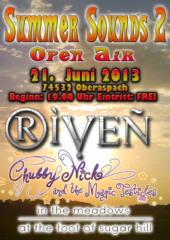 RIVEN live at Summer Sounds 2 Open-Air am Freitag den 21. Juni in Oberaspach