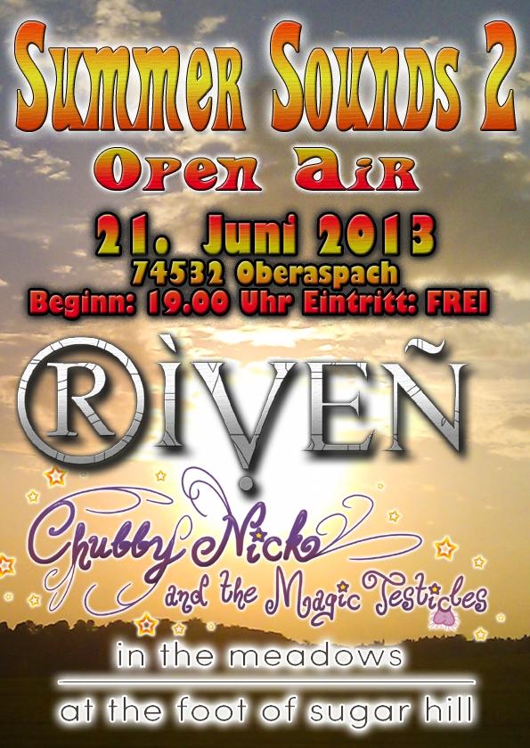 RIVEN live at Summer Sounds 2 Open-Air am Freitag den 21. Juni in Oberaspach
