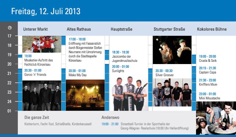 Silvergroover live @ Stadtfest Künzelsau 2013