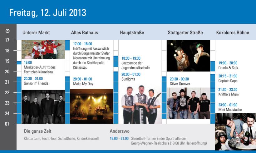 Silvergroover live auf dem Künzelsauer Stadtfest