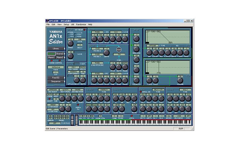 Yamaha AN1x Editor