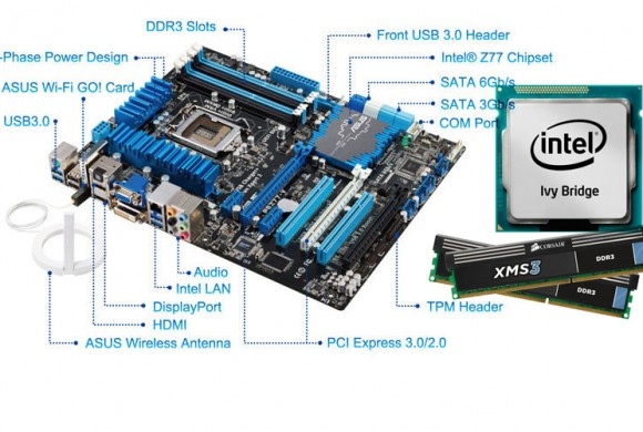 Asus P8Z77-V LX + Intel Core i5 3570K + Corsair XMS3 Kit 8GB DDR-3 1600 MHz