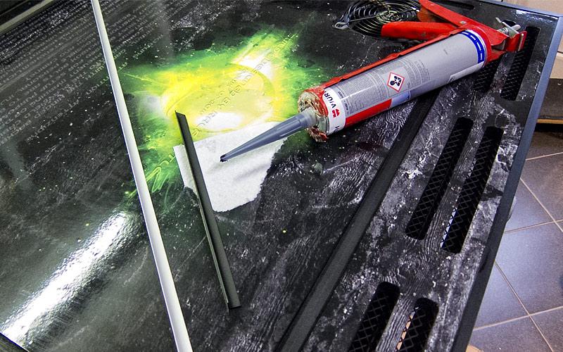 Eckleisten sägen, lackieren und ankleben / ledges: sawing, varnishing and gluing