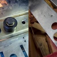 28 mm Löcher mit Lochschneider / 28 mm holes with hole cutter tool
