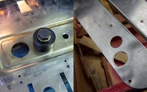 28 mm Löcher mit Lochschneider