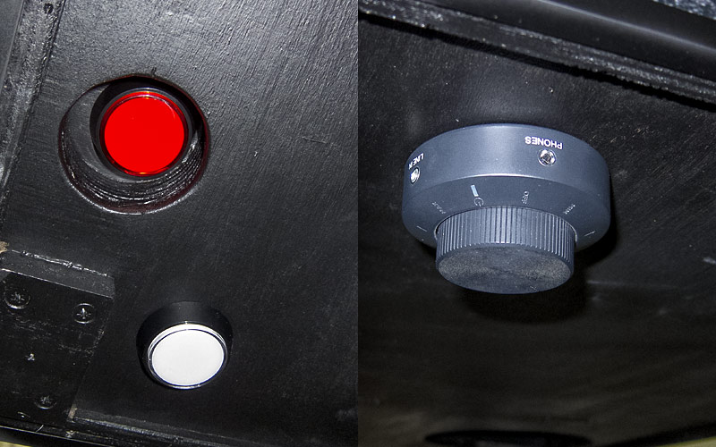 Power- & Resetbutton, Volume (inkl. Headphone)