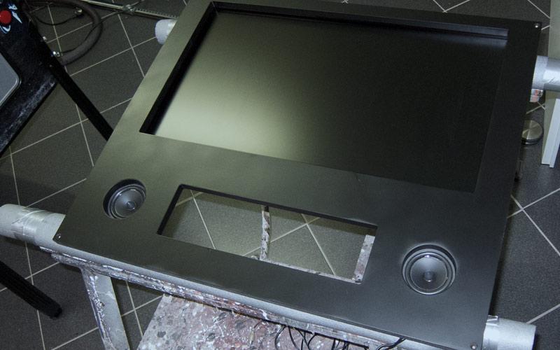 Back-(Glass)Holz vorne / Back-(glass)wood front