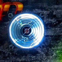 Ventilator im Gehäuse mit Beleuchtung / Chasis fan incl. light