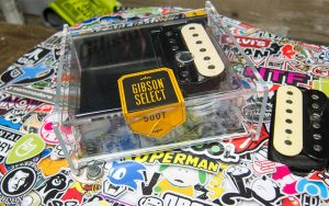 Musicman Axis Stickerbomb Gibson 500T