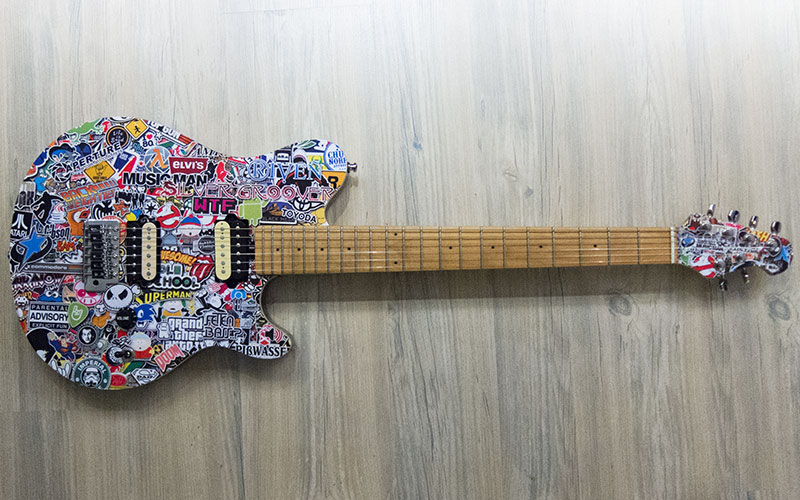 Musicman Axis Stickerbomb