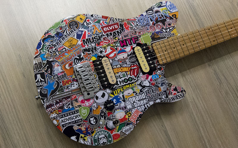 Musicman Axis Stickerbomb Body