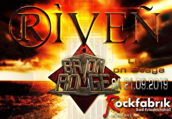 RIVEN & Baton Rouge live in der Rockfabrik Bad Friedrichshall