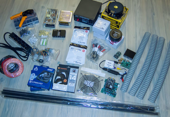 Pinscape, Teensy, RPI, Exciter, Bass Pumps, WS2812b LEDs, Netzteile...