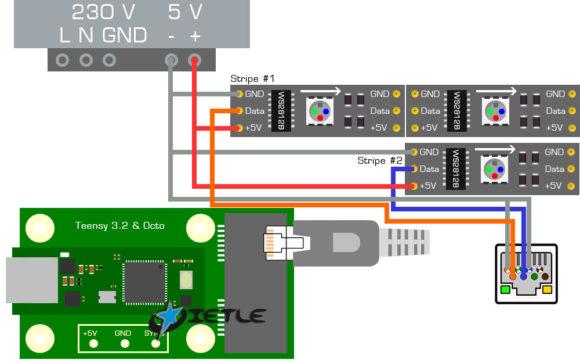 VPIN: Teensy WS2812B LEDs